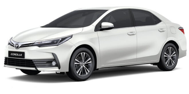 Toyota Corolla for transfer to Pattaya